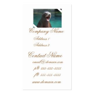 León marino ruidoso tarjetas personales