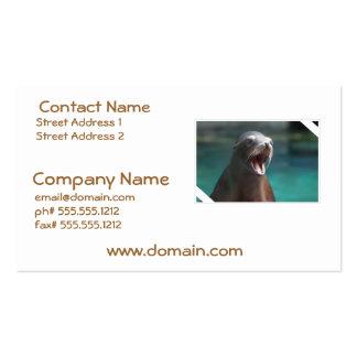 León marino ruidoso plantilla de tarjeta de visita