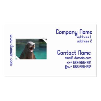 León marino ruidoso tarjeta de negocio