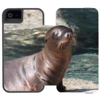 León marino funda cartera para iPhone 5 watson