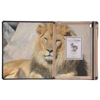 León masculino iPad carcasas