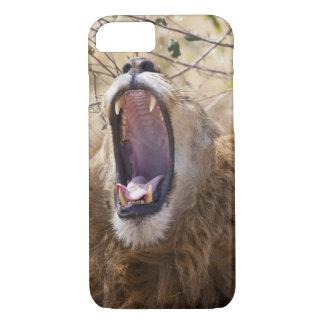 León masculino (Panthera leo) que bosteza, Masai Funda iPhone 7
