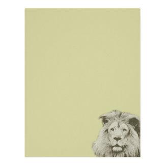 León masculino plantilla de membrete
