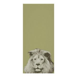 León masculino tarjetas publicitarias personalizadas