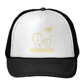 León minimalista - amarillo gorros