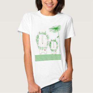 León minimalista - verde playera