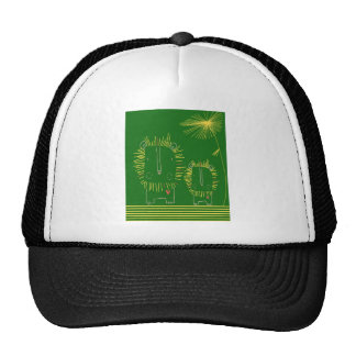 León minimalista - verde y amarillo gorra
