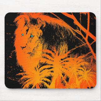 León Mousepad del fuego Alfombrillas De Ratón