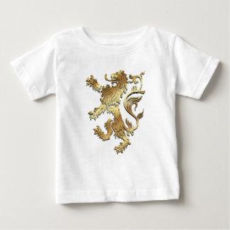 León muy fresco del estilo del escudo de armas playera para bebé
