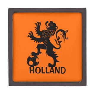León negro de Holanda - león holandés del fútbol Caja De Regalo De Calidad