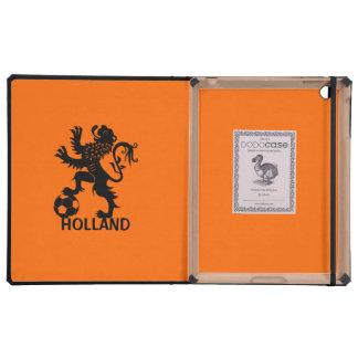 León negro de Holanda - león holandés del fútbol iPad Cárcasas