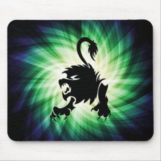 León negro Leo fresco Alfombrillas De Raton