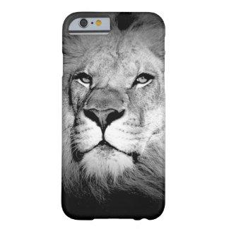 León negro y blanco funda de iPhone 6 slim