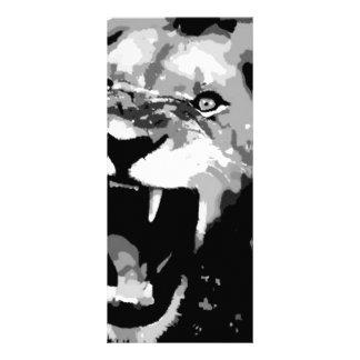 León negro y blanco lonas publicitarias