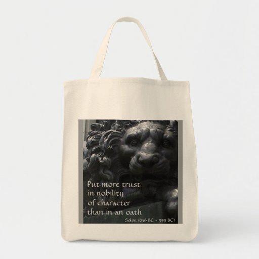 León noble bolsa tela para la compra