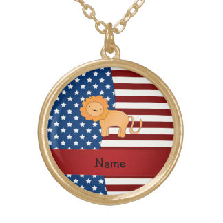 León patriótico conocido personalizado joyeria personalizada