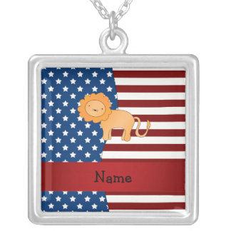 León patriótico conocido personalizado collares