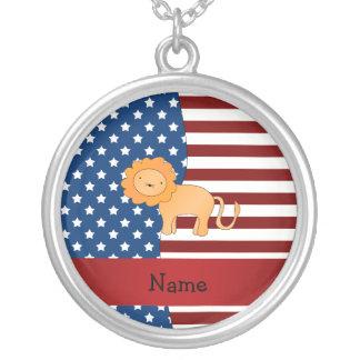 León patriótico conocido personalizado colgantes personalizados