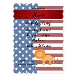 León patriótico conocido personalizado invitacion personalizada