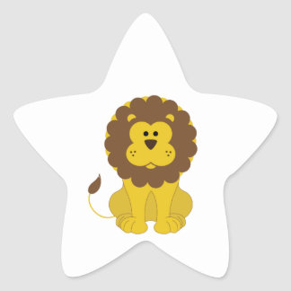 León Pegatina En Forma De Estrella