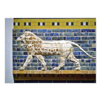 """León persa - ladrillo esmaltado, Estambul Invitación 5"""" X 7"""""""