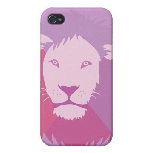 León púrpura iPhone 4/4S carcasa