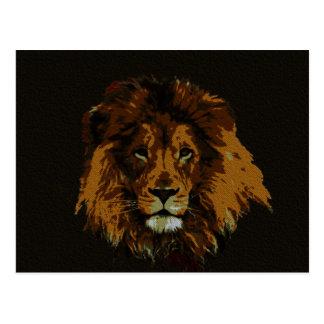 León que el rey del arte salvaje imprime tarjetas postales