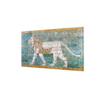 León que representa Ishtar Impresión En Lona Estirada