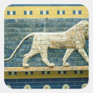 León que representa Ishtar Pegatina Cuadrada