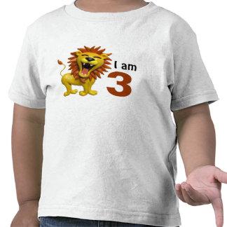 León que ruge camiseta