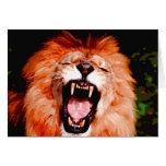 León que ruge tarjetón