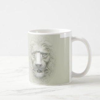 León que sorprende 3D Taza De Café