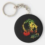 león rasta llavero redondo tipo pin