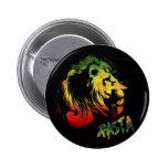león rasta pin redondo 5 cm