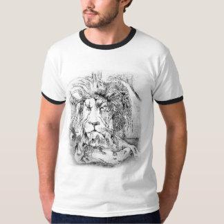 León real gris y negro playera