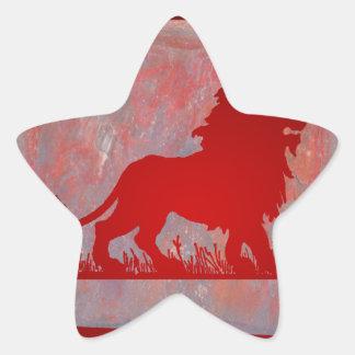 LEON REDCUSTOMIZABLE PRODUCTS STAR STICKER