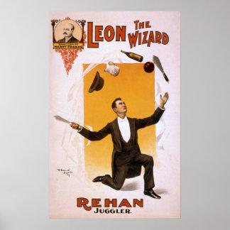LEON REHAN Knife Juggler VAUDEVILLE Poster