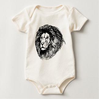 león - rey de la selva body para bebé