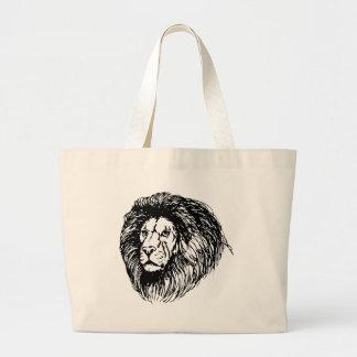 león - rey de la selva bolsa lienzo