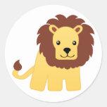 León - rey de la selva pegatinas redondas