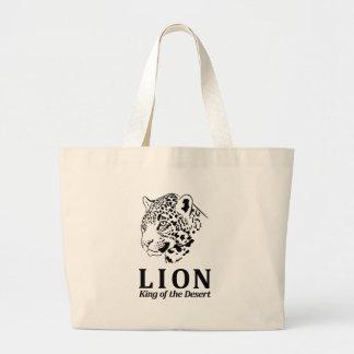 León - rey del desierto bolsas de mano