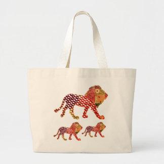 LEÓN - REY majestuoso de animales Bolsas De Mano