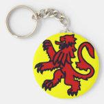 León rojo de Escocia Llavero