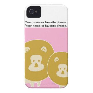 León - rosa iPhone 4 protectores