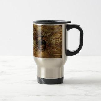 león rugiente tazas de café