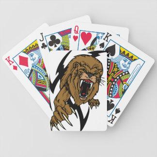 León salvaje baraja cartas de poker