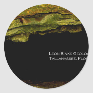 Leon Sinks Geological Area Classic Round Sticker