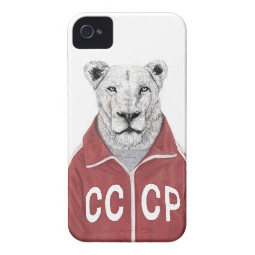 León soviético Case-Mate iPhone 4 coberturas