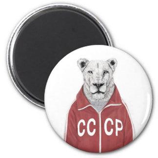 León soviético imán redondo 5 cm
