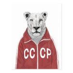 León soviético postales